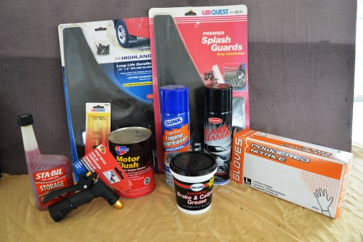 Misc. lot, rub gloves, flaps, motor flush, & more