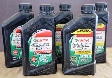 5 qts. 10W30 Synthetic Castrol oil