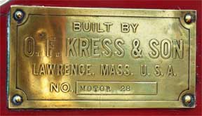 White Kress Fire Truck