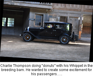 """Charlie Thompson doing """"donuts"""" with his Whippet"""