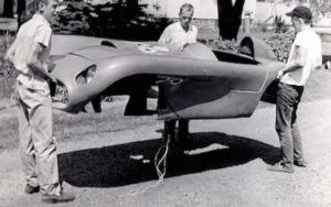 1954 macaroni monza fiberglass body shell