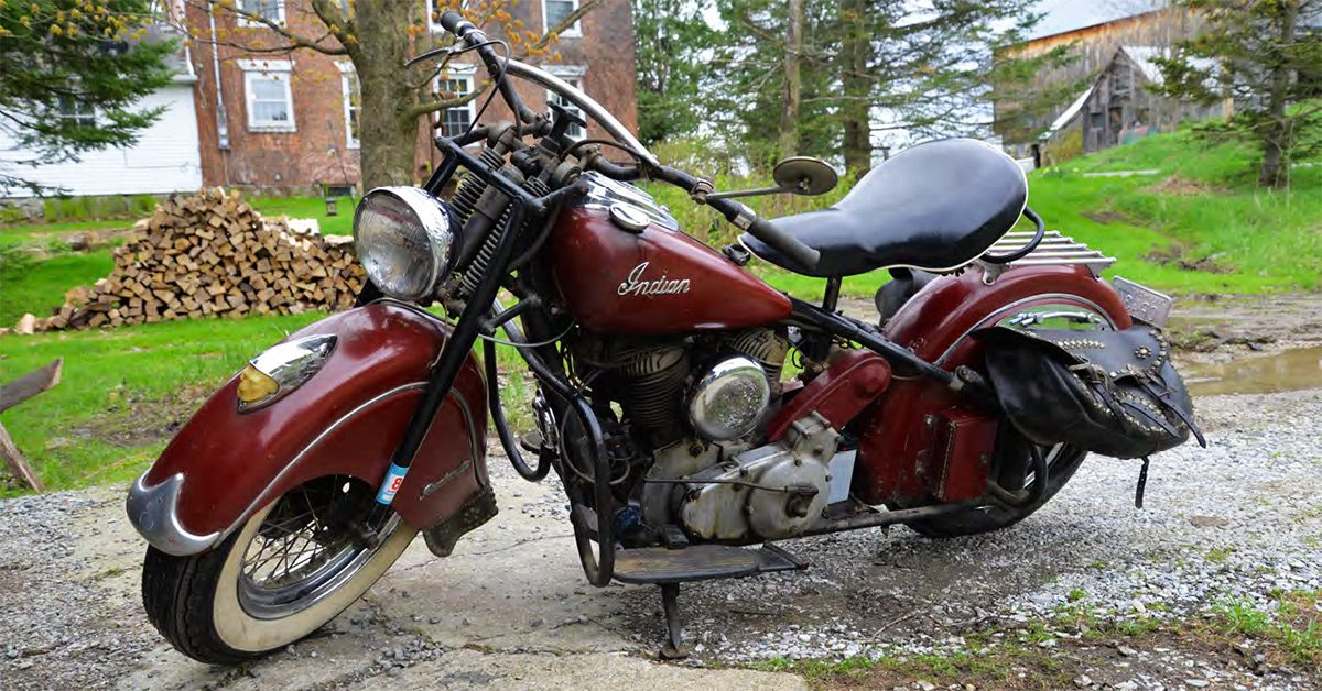 A 1949 Indian Roadmaster makes it back on the road.