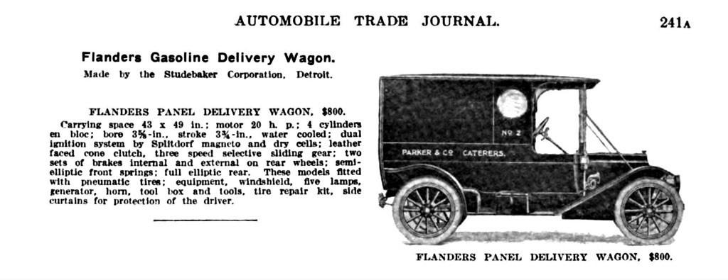 flanders gasoline delivery wagon ad