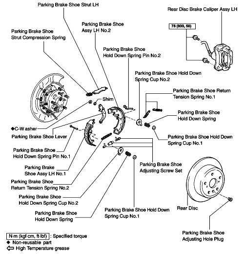 disc brakes with emergency brake