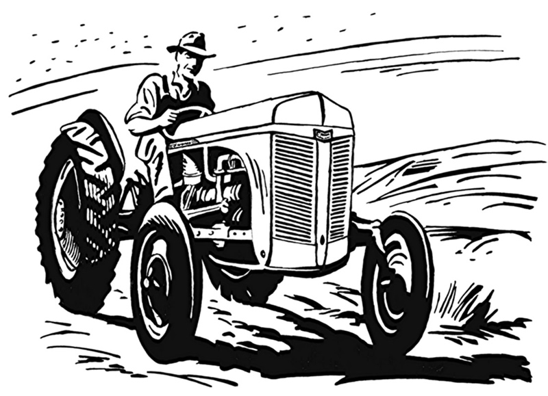 ford n tractor drawing