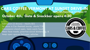 cars and coffee - drive-in movies